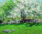 "JOHN LESLIER BRECK ""Apple Trees"" orchard landscape choose your SIZE, from 55cm"