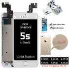 For iPhone 5 5S 5C SE Complete Touch Screen Replacement LCD Digitizer +Button