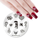 Nail Art Stamping Plates Valentine's Day Rose Unicorn Image Stamp Templates New