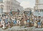 """BARTOLOMEO PINELLI """"Carnevale A Roma II"""" CANVAS or PAPER, various sizes"""
