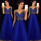 Us Stock Women Formal Wedding Bridesmaid Long Evening Party Ball Prom Gown Dress