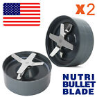 2x NutriBullet Nutri Bullet Cross Extractor Blade + Gray Gasket Replacement 600W