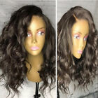 Brazilian Pre Plucked Lace Front Natural Hair Wigs With Baby Hair Curly Silk Top