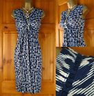 NEW EX FAT FACE ABSTRACT PRINT BLUE IVORY TEAL TUNIC DRESS UK 8 10