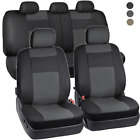 PU Vinyl Leather Car Seat Covers - 9 Pieces Front & Rear Full Interior Set $25.9 USD on eBay