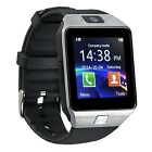 DZ09 Bluetooth Smart Watch Phone + Camera SIM Card For Android IOS Phones Black