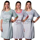 Maternity Women's Nightshirt Nursing Nightdress Pregnancy Breastfeeding Nightie
