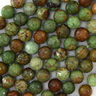 "Natural Faceted Green Opal Round Beads Gemstone 15"" Strand 4mm 6mm 8mm 10mm 12mm"
