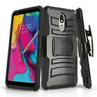 for LG STYLO 5 / 4 / PLUS, [Refined Series] Phone Case & Holster +Tempered Glass
