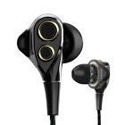 Newest Sport Dual Driver HiFi Stereo Super Bass Headset In Ear Earphones Cool