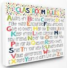 rules in a kitchen - Classroom Rules Colorful Alphabet Canvas Wall Art [ID 3455935]