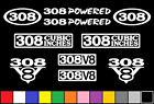 308 V8 POWERED 10 DECAL SET ENGINE HOLDEN STICKERS EMBLEMS FENDER BADGE DECALS