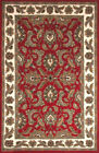 Red Traditional - Persian/Oriental Floral Leaves Vines Area Rug Bordered JW10