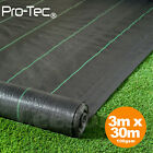 3m wide 100gsm weed control fabric ground cover membrane landscape mulch garden