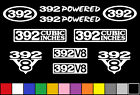 392 CI V8 POWERED 10 DECAL SET  ENGINE STICKERS EMBLEMS VINYL DECALS