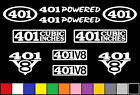401 CI V8 POWERED 10 DECAL SET ENGINE STICKERS EMBLEMS VINYL DECALS