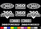 10 DECAL SET 360 CI V8 POWERED 5.9 ENGINE STICKERS EMBLEMS RAM VINYL DECALS
