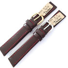 16mm DARLENA CLASSIC 1201 BURGUNDY CALF LEATHER WATCH STRAP. GOLD OR SILVER