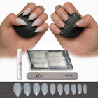 50-600 STILETTO NAILS ✔ Short/Medium ✔ Opaque/Clear Full Cover Tips ✔ False Fake