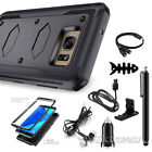 REFINED ARMOR Rugged Shockproof Full Body Slim Phone Case Cover + Accessories