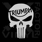 Triumph Punisher Dicut Skull Decal Tiger Triple Scrambler 14color3SIZES Bonnevil $5.75 USD on eBay