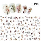3D Nail Stickers Decals Colorful Dandelion Adhesive Nail Art Transfer Stickers