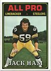 1974 TOPPS #137 JACK HAM ALL-PRO PITTSBURHG STEELERS HOF VG-EX
