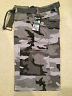 NWT Men's Regal Wear Light Gray Camouflage Camo Belted Cargo Shorts ALL BIG SIZE