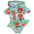 DISNEY MINNIE MOUSE:HOODED SWIM SUIT,6-9M,9-12M,12-18M,18-24M, NEW WITH TAGS
