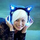 Quality Gaming LED Cat Ears Heaphones w/ High Function Speakers Axent Wear Blue