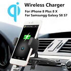 5V 2A Qi Wireless Car Fast Charger CD Slot Mount Holder Stand For Mobile Phone