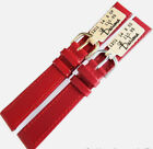 14mm DARLENA 1201 RED CLASSIC SOFT CALF LEATHER WATCH STRAP GOLD OR SILVER