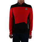 Cosplay Star Trek Shirt Starfleet Command Uniform Cos Star Trek TNG Red Uniform on eBay