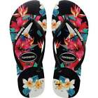 Womens Girls Havaianas Slim Tropical Flip Flops Beach Shoes Assorted