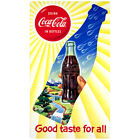 Coca-Cola in Bottles Good Taste For All Wall Decal Vintage Style Coke