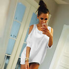 Damen Bluse T-Shirt Kurzarm Shirts Cold Shoulder Oberteile Hemd Tops Casual Tees
