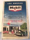 """VINTAGE MOBIL 1964 LOS ANGELES & VICINITY Touring ROAD MAP LARGE 51"""" x 25"""" BIG‼️"""