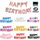 """Self-inflating 16"""" """"HAPPY BIRTHDAY"""" Letters 13Pcs Foil Balloons Party Decoration"""