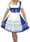 Dirndl Oktoberfest German SHORT Swing Party Dress EMBROIDERED 3 Pcs COMPLETE SET