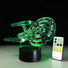 Star Trek 3D Remote Control Night Light 7 Color Change LED Table Desk Lamp Kids