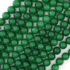 "Emerald Green Jade Round Beads Gemstone 15.5"" Strand 4mm 6mm 8mm 10mm 12mm"