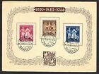 Germany%2C+Bohemia+%26+Moravia+5th+Anniversary+Stamps+on+Commemorative+Card+1944