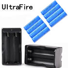 Ultrafire 18650 Battery 6000mAh Li-ion 4.2v Rechargeable Batteries Dual Charger