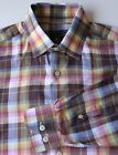 Robert Talbott Lightweight Multicolor Plaid Shirt 100% Cotton Made in Portual M