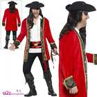 Mens Curves Pirate Captain Costume Deluxe Pirates Fancy Dresss Outfit L-XXL
