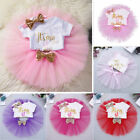 Baby Girls' 1st Birthday Tutu Outfit Party Dress Set Romper Bow Skirt Cake Smash