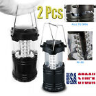 30LED Portable Outdoor Camping Lantern Bivouac Hiking Night Fishing Light Lamp T