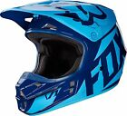 FOX RACING V1 LIGHT BLUE DARK BLUE HELMET 17343-007 MX ATV BMX