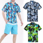 Fashion Mens' Hawaii Casual Shirts Summer Beach Short Sleeve Floral Shirts L-4XL