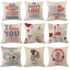 Valentine's Day Cushion Cover Letters Printed Waist Pillow Case Home Decor New